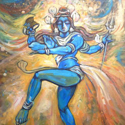the creator, 24 x 30 inch, subrata ghosh,paintings,paintings for dining room,paintings for living room,paintings for bedroom,paintings for office,paintings for hotel,figurative paintings,lord shiva paintings,canvas,acrylic color,24x30inch,GAL040216709