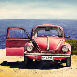 old beetle car, 36 x 24 inch, jumpstart creative studio,paintings,still life paintings,photorealism paintings,photorealism,pop art paintings,realism paintings,contemporary paintings,realistic paintings,paintings for living room,canvas,acrylic color,36x24inch,GAL0756816725