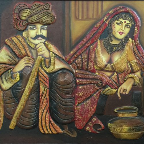 village, 36 x 30 inch, neha mantry,paintings,realistic paintings,paintings for bedroom,paintings for office,paintings for hotel,paintings for kitchen,paintings for school,paintings for hospital,canvas,mixed media,oil,36x30inch,GAL0757216739