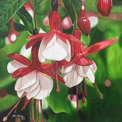dancing flower, 24 x 24 inch, neha mantry,paintings for dining room,paintings for living room,paintings for bedroom,paintings for office,paintings for bathroom,paintings for kids room,paintings for hotel,paintings for kitchen,paintings for school,paintings for hospital,flower paintings,canvas,oil,24x24inch,nature,flower,GAL0757216740