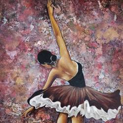 ballet of colours, 24 x 34 inch, devika sathyavelu,paintings,figurative paintings,paintings for living room,paintings for bedroom,canvas,acrylic color,24x34inch,GAL0755116750