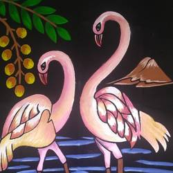 love swans, 16 x 12 inch, aishwarya  jv,paintings,wildlife paintings,landscape paintings,nature paintings,animal paintings,paintings for living room,paintings for office,paintings for hotel,paintings for school,cloth,acrylic color,fabric,16x12inch,GAL0546916753Nature,environment,Beauty,scenery,greenery