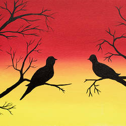 two birds on tree in love, 18 x 36 inch, totem creations,paintings,conceptual paintings,animal paintings,love paintings,paintings for dining room,paintings for living room,paintings for bedroom,paintings for office,paintings for hotel,paintings for kitchen,paintings for hospital,canvas,acrylic color,18x36inch,GAL0757016755heart,family,caring,happiness,forever,happy,trust,passion,romance,sweet,kiss,love,hugs,warm,fun,kisses,joy,friendship,marriage,chocolate,husband,wife,forever,caring,couple,sweetheart