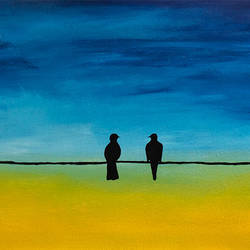 love birds on wire, 18 x 36 inch, totem creations,paintings,abstract paintings,nature paintings,animal paintings,love paintings,paintings for dining room,paintings for living room,paintings for bedroom,paintings for office,paintings for bathroom,paintings for kids room,paintings for hotel,paintings for kitchen,paintings for school,paintings for hospital,canvas,acrylic color,18x36inch,GAL0757016757heart,family,caring,happiness,forever,happy,trust,passion,romance,sweet,kiss,love,hugs,warm,fun,kisses,joy,friendship,marriage,chocolate,husband,wife,forever,caring,couple,sweetheartNature,environment,Beauty,scenery,greenery