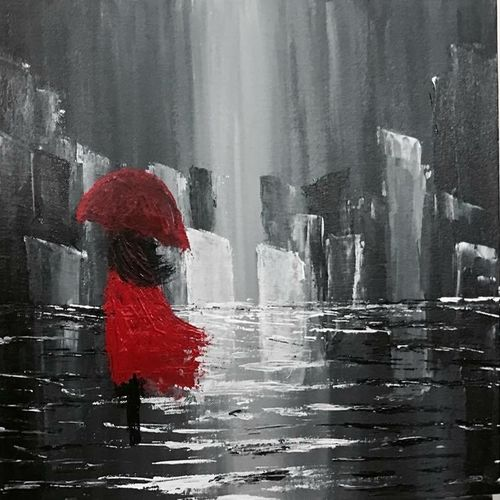 rhythm of the falling rain, 18 x 14 inch, shreya kapoor,paintings,abstract paintings,landscape paintings,paintings for dining room,paintings for living room,paintings for bedroom,paintings for office,paintings for hotel,paintings for dining room,paintings for living room,paintings for bedroom,paintings for office,paintings for hotel,canvas,acrylic color,18x14inch,GAL0758116768