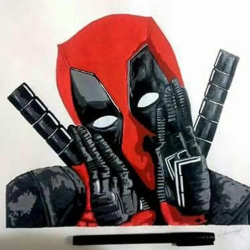 deadpool, 36 x 28 inch, narendra rana,paintings,portrait paintings,art deco paintings,pop art paintings,kids paintings,paintings for living room,paintings for bedroom,paintings for office,paintings for kids room,paintings for school,paintings for living room,paintings for bedroom,paintings for office,paintings for kids room,paintings for school,drawing paper,acrylic color,36x28inch,GAL0329616791