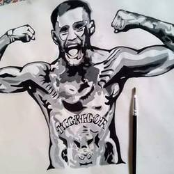 the notorious connor mcgregor, 36 x 28 inch, narendra rana,paintings,modern art paintings,portrait paintings,pop art paintings,paintings for living room,paintings for bedroom,paintings for hotel,drawing paper,acrylic color,36x28inch,GAL0329616792