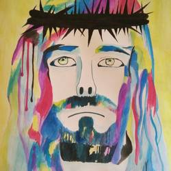 jesus christ , 11 x 16 inch, shravani  somayajula ,paintings,religious paintings,paintings for living room,paintings for bedroom,paintings for office,paintings for kids room,paintings for hotel,paintings for school,paintings for hospital,ivory sheet,watercolor,11x16inch,GAL0606916798