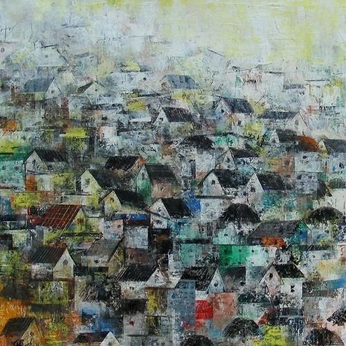 the village houses, 36 x 24 inch, m. singh,paintings,abstract paintings,cityscape paintings,landscape paintings,modern art paintings,conceptual paintings,nature paintings,abstract expressionist paintings,contemporary paintings,paintings for dining room,paintings for living room,paintings for bedroom,paintings for office,paintings for kids room,paintings for hotel,paintings for school,paintings for hospital,canvas,acrylic color,36x24inch,GAL0537716810Nature,environment,Beauty,scenery,greenery