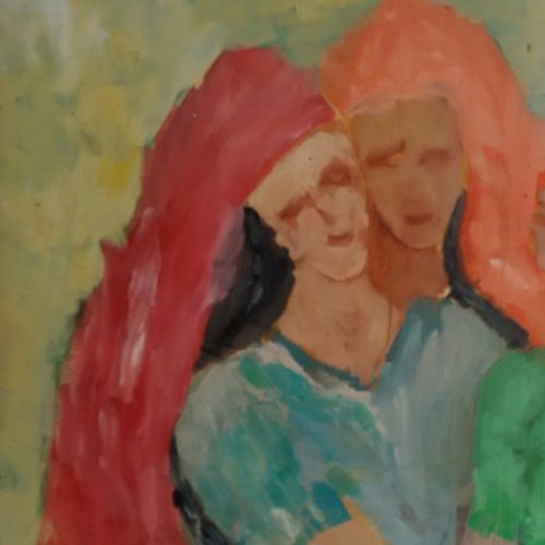 village beauties, 28 x 22 inch, ravi bedi,paintings,figurative paintings,paintings for dining room,paintings for living room,paintings for bedroom,paintings for office,paintings for bathroom,paintings for hotel,paintings for school,thick paper,oil,28x22inch,GAL0715716835