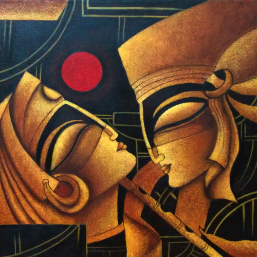 radha krishna, 20 x 16 inch, poornima bhardwaj,paintings for living room,paintings for hotel,paintings for living room,paintings for hotel,figurative paintings,religious paintings,contemporary paintings,paintings for office,radha krishna paintings,paintings for bedroom,canvas,acrylic color,20x16inch,lord,radhakrishna,love,flute,music,lordradha,lordkrishna,modernartradhakrishna,religious,GAL0760616859,krishna,Lord krishna,krushna,radha krushna,flute,peacock feather,melody,peace,religious,god,love,romance