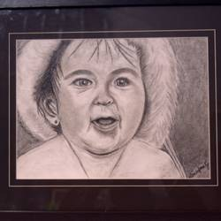 charcoal baby, 14 x 12 inch, aikya enterprise,drawings,fine art drawings,renaissance watercolor paper,charcoal,14x12inch,GAL0760916863