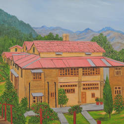 hotel in almora, 36 x 24 inch, ajay harit,paintings,landscape paintings,nature paintings,realism paintings,paintings for dining room,paintings for living room,paintings for bedroom,paintings for office,paintings for hotel,paintings for school,paintings for hospital,paintings for dining room,paintings for living room,paintings for bedroom,paintings for office,paintings for hotel,paintings for school,paintings for hospital,canvas,oil,36x24inch,GAL0199816869Nature,environment,Beauty,scenery,greenery,houses,leaves,flowers,peace,sunset,trees,beautiful