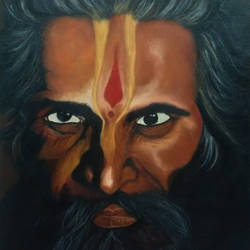 sadhu, 20 x 16 inch, poornima bhardwaj,paintings,figurative paintings,religious paintings,portrait paintings,portraiture,realism paintings,contemporary paintings,realistic paintings,paintings for living room,paintings for office,paintings for hotel,paintings for living room,paintings for office,paintings for hotel,canvas,acrylic color,20x16inch,GAL0760616874