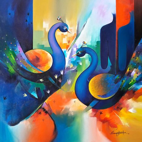 love forever 2, 36 x 36 inch, sanjay  tandekar ,paintings,surrealist paintings,paintings for dining room,paintings for living room,paintings for hotel,paintings for hospital,canvas,acrylic color,36x36inch,GAL0281016881