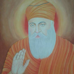guru nanak dev ji, 16 x 12 inch, dilpreet honey,paintings,religious paintings,thick paper,oil,16x12inch,GAL0677616893