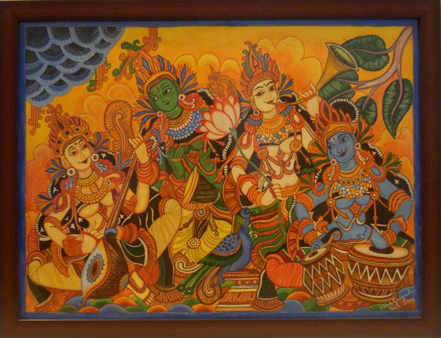 Buy Musicians Kerala Mural Painting Painting At Lowest Price By Aikya Enterprise
