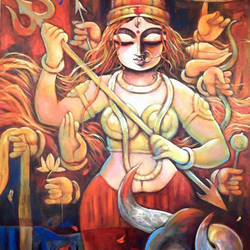 bishalakshi, 36 x 48 inch, subrata ghosh,figurative paintings,contemporary paintings,paintings for dining room,paintings for living room,paintings for bedroom,paintings for office,paintings for hotel,canvas,acrylic color,36x48inch,GAL040216899