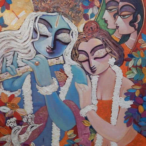 silent love 24 x 30 inch by subrata ghosh,24x30inch,radha,krishna,flute,music,peace,romace,love,couple, religious,GAL040216912heart,family,caring,happiness,forever,happy,trust,passion,romance,sweet,kiss,love,hugs,warm,fun,kisses,joy,friendship,marriage,chocolate,husband,wife,forever,caring,couple,sweetheart,krishna,Lord krishna,krushna,radha krushna,flute,peacock feather,melody,peace,religious,god,flower,leaves,love