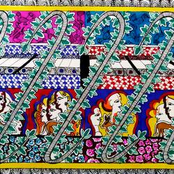 madhubani painting, 12 x 8 inch, jinal vadalia,madhubani paintings,cartridge paper,ink color,12x8inch,GAL0718316920