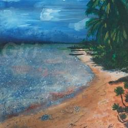 beach, 12 x 17 inch, giridhar alwar,paintings,landscape paintings,still life paintings,photorealism,realistic paintings,paintings for living room,paintings for bedroom,paintings for kids room,paintings for hotel,thick paper,acrylic color,12x17inch,GAL0740816931