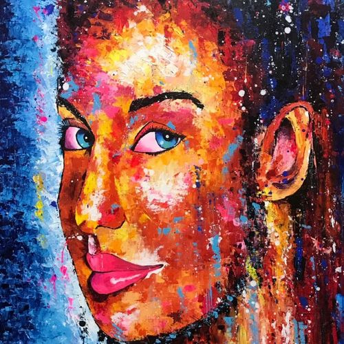 """tell me your dream "", 24 x 30 inch, samta bhatera,paintings,abstract paintings,figurative paintings,modern art paintings,portrait paintings,abstract expressionist paintings,expressionist paintings,impressionist paintings,photorealism paintings,photorealism,pop art paintings,portraiture,contemporary paintings,realistic paintings,love paintings,paintings for dining room,paintings for living room,paintings for bedroom,paintings for bathroom,paintings for hotel,paintings for dining room,paintings for living room,paintings for bedroom,paintings for bathroom,paintings for hotel,canvas,acrylic color,24x30inch,GAL0754316978"