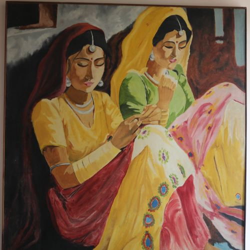 canvas oil , 36 x 36 inch, sunita swaroop,drawings,paintings for dining room,paintings for living room,paintings for bedroom,paintings for bathroom,folk drawings,paintings for dining room,paintings for living room,paintings for bedroom,paintings for bathroom,canvas,oil,36x36inch,GAL0755817002