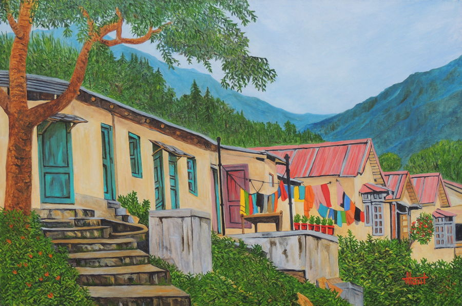 lazy afternoon, 45 x 30 inch, ajay harit,paintings,landscape paintings,nature paintings,photorealism paintings,paintings for dining room,paintings for living room,paintings for bedroom,paintings for office,paintings for hotel,paintings for school,paintings for hospital,paintings for dining room,paintings for living room,paintings for bedroom,paintings for office,paintings for hotel,paintings for school,paintings for hospital,canvas,oil,45x30inch,GAL0199817014Nature,environment,Beauty,scenery,greenery