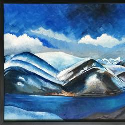 the majestic himalayas, 37 x 25 inch, madhavi  marathe,paintings,landscape paintings,paintings for living room,paintings for hotel,paintings for living room,paintings for hotel,canvas,oil,37x25inch,GAL0770717015
