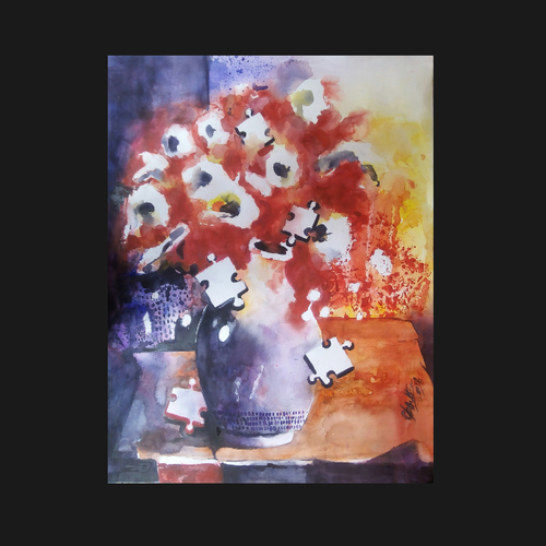 flowers in a vase, 22 x 28 inch, sanjay datta,paintings,flower paintings,paintings for dining room,paintings for living room,paintings for bedroom,paintings for office,paintings for kids room,paintings for hotel,paintings for school,paintings for hospital,paintings for dining room,paintings for living room,paintings for bedroom,paintings for office,paintings for kids room,paintings for hotel,paintings for school,paintings for hospital,renaissance watercolor paper,watercolor,22x28inch,GAL0765817031