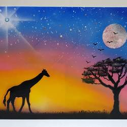 wildlife glow in the dark , 12 x 16 inch, aizaz vakil,paintings,wildlife paintings,canvas board,acrylic color,12x16inch,GAL0772117037