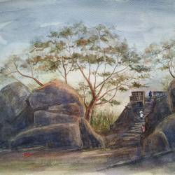 cityscape / landscape, 16 x 12 inch, ram mohan e,paintings,cityscape paintings,landscape paintings,paintings for living room,paintings for office,paintings for hotel,paintings for school,paintings for hospital,paintings for living room,paintings for office,paintings for hotel,paintings for school,paintings for hospital,brustro watercolor paper,watercolor,16x12inch,GAL069717055