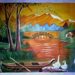 nature, 28 x 21 inch, anandi m,paintings,landscape paintings,nature paintings,paintings for dining room,paintings for living room,paintings for office,paintings for hotel,paintings for kitchen,paintings for school,paintings for hospital,canvas,oil,28x21inch,GAL0307717091Nature,environment,Beauty,scenery,greenery