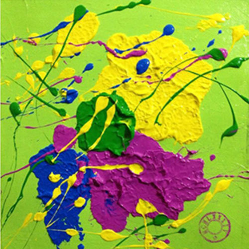 glossy of vibrant colour, 10 x 10 inch, lilly kaur,abstract paintings,paintings for living room,canvas,acrylic color,10x10inch,GAL065171