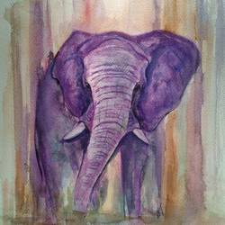 elephant, 12 x 16 inch, ram mohan e,paintings,wildlife paintings,nature paintings,animal paintings,elephant paintings,paintings for living room,paintings for kids room,paintings for school,brustro watercolor paper,watercolor,12x16inch,GAL069717155Nature,environment,Beauty,scenery,greenery