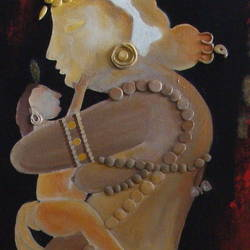 mother, 12 x 36 inch, purvii parekh,contemporary paintings,paintings for bedroom,paintings for hospital,canvas,acrylic color,mixed media,12x36inch,GAL0340017162