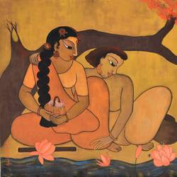 divine couple i__44, 40 x 30 inch, purvii parekh,paintings,contemporary paintings,love paintings,paintings for living room,paintings for hotel,paintings for living room,paintings for hotel,canvas,acrylic color,40x30inch,love,couple,GAL0340017178heart,family,caring,happiness,forever,happy,trust,passion,romance,sweet,kiss,love,hugs,warm,fun,kisses,joy,friendship,marriage,chocolate,husband,wife,forever,caring,couple,sweetheart
