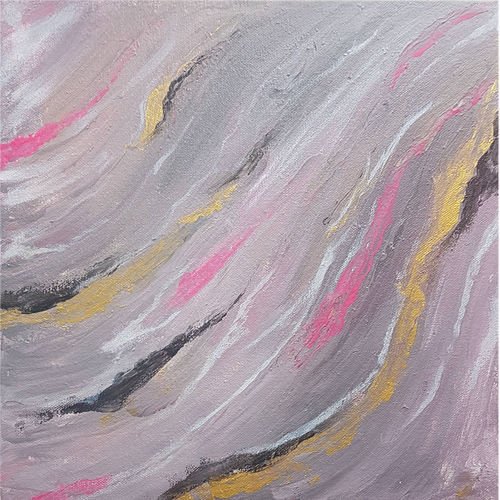 pink abstract, 12 x 12 inch, masoom sanghi,paintings,abstract paintings,paintings for dining room,paintings for living room,paintings for bedroom,paintings for office,paintings for hotel,paintings for school,canvas,acrylic color,12x12inch,GAL057217184