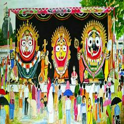 golden attire of lord jagannath , 54 x 30 inch, ranjita panda,paintings,warli paintings,documentary drawings,paintings for dining room,paintings for living room,paintings for bedroom,paintings for kids room,paintings for hotel,paintings for school,paintings for hospital,canvas,acrylic color,54x30inch,GAL0583917192