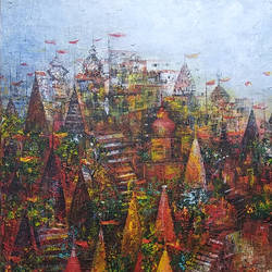 banaras ghat city of devotion , 24 x 24 inch, m. singh,abstract paintings,cityscape paintings,landscape paintings,modern art paintings,conceptual paintings,religious paintings,abstract expressionist paintings,realism paintings,contemporary paintings,paintings for dining room,paintings for living room,paintings for bedroom,paintings for office,paintings for kids room,paintings for hotel,paintings for school,paintings for hospital,paintings for dining room,paintings for living room,paintings for bedroom,paintings for office,paintings for kids room,paintings for hotel,paintings for school,paintings for hospital,canvas,acrylic color,24x24inch,GAL0537717236