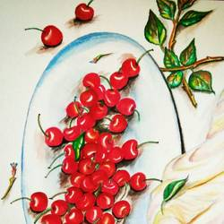 cherries, 12 x 17 inch, piyali muni,modern art paintings,paintings for dining room,paintings for living room,paintings for bedroom,paintings for office,paintings for hotel,paintings for school,paintings for hospital,paintings for dining room,paintings for living room,paintings for bedroom,paintings for office,paintings for hotel,paintings for school,paintings for hospital,thick paper,watercolor,12x17inch,GAL0748317245