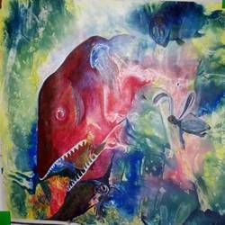 sea life, 17 x 15 inch, bablu pramanik,paintings,abstract paintings,oil sheet,acrylic color,17x15inch,GAL0773817247
