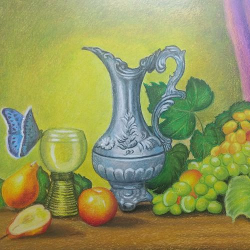 stilllife, 24 x 18 inch, geetha kanchi ,paintings,still life paintings,art deco paintings,realistic paintings,paintings for dining room,paintings for living room,paintings for office,paintings for hotel,paintings for kitchen,paintings for school,paintings for hospital,paintings for dining room,paintings for living room,paintings for office,paintings for hotel,paintings for kitchen,paintings for school,paintings for hospital,canvas board,pastel color,24x18inch,GAL0793517254
