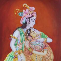 radha krishna painting, 17 x 24 inch, geetha kanchi ,figurative paintings,religious paintings,radha krishna paintings,love paintings,paintings for dining room,paintings for living room,paintings for bedroom,paintings for office,paintings for kids room,paintings for hotel,paintings for school,paintings for hospital,canvas board,poster color,watercolor,17x24inch,radhakrishna,lord,flute,couple,red,love,romance,GAL0793517256heart,family,caring,happiness,forever,happy,trust,passion,romance,sweet,kiss,love,hugs,warm,fun,kisses,joy,friendship,marriage,chocolate,husband,wife,forever,caring,couple,sweetheart