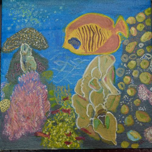 fish in coral reef, 12 x 12 inch, saradha devi prabhakaran,paintings,nature paintings,paintings for bedroom,paintings for bathroom,paintings for kids room,paintings for hotel,paintings for school,paintings for hospital,paintings for bedroom,paintings for bathroom,paintings for kids room,paintings for hotel,paintings for school,paintings for hospital,canvas board,acrylic color,12x12inch,GAL0798817274Nature,environment,Beauty,scenery,greenery