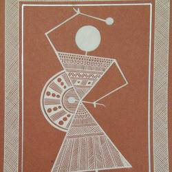 musician , 6 x 8 inch, anushree  jain,paintings,warli paintings,miniature painting.,paintings for dining room,paintings for living room,paintings for bedroom,paintings for office,paintings for kids room,paintings for hotel,paintings for school,thick paper,pen color,6x8inch,GAL0765717288