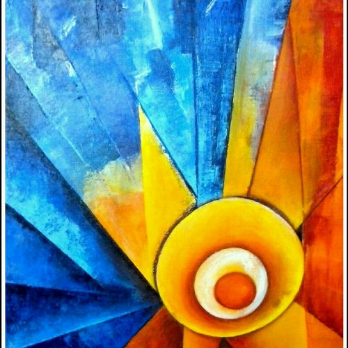 revolving ceiling fan, 17 x 22 inch, a.b.  kaser,abstract paintings,paintings for living room,canvas,acrylic color,17x22inch,GAL06361729