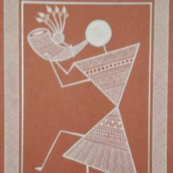 musician 3, 6 x 8 inch, anushree  jain,paintings,warli paintings,miniature painting.,paintings for dining room,paintings for living room,paintings for bedroom,paintings for office,paintings for kids room,paintings for hotel,paintings for school,thick paper,pen color,6x8inch,GAL0765717290