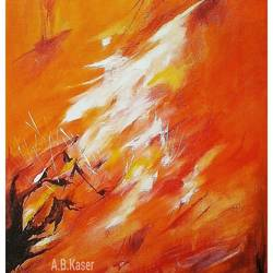 revolution, 17 x 22 inch, a.b.  kaser,abstract paintings,paintings for living room,canvas,acrylic color,17x22inch,GAL06361730