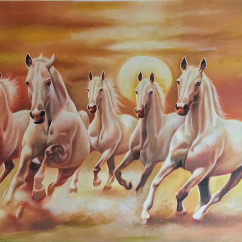 good luck horsees, 36 x 24 inch, saurabh vyas,paintings,animal paintings,horse paintings,paintings for dining room,paintings for living room,paintings for bedroom,paintings for office,paintings for hotel,canvas,oil,36x24inch,GAL0800817311